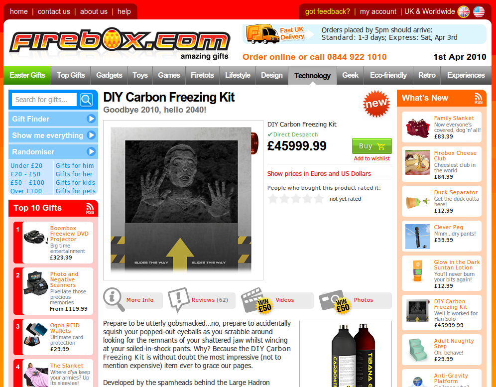 DIY Carbon Freezing Kit