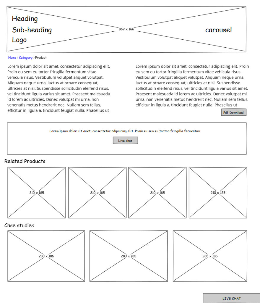 Example Website Wireframe