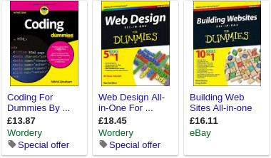 Products rich snippet in Google's search results